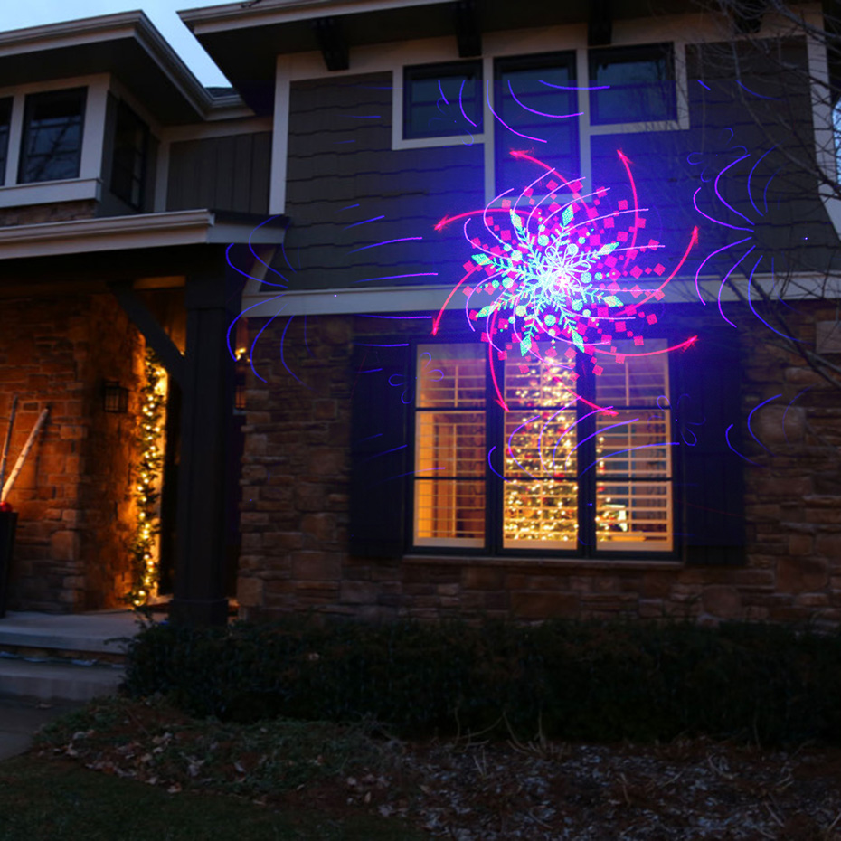 ALIEN RGB 32 Patterns Christmas Laser Projector Outdoor Light Remote Garden Waterproof IP65 Holiday Xmas Outside Shower Lighting 5
