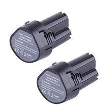 2X10.8 Volt Li-ion Batterie pour Makita BL1013 194551-4 194550-6 TD090DW LCT203W
