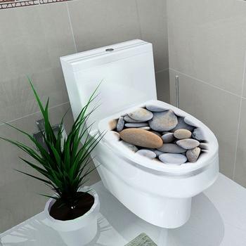 1pc Toilet Seat Wall Sticker Cartoon Art Removable Bathroom Wallpaper Home Decor 10 Size toilet seat