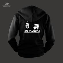 metal gear Phantom Pain diamond dog snake with box zip up hoodie sweatshirts men unisex 82% cotton fleece inside free shipping