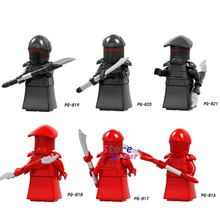 Single Solo A Star Wars Story Black red Royal Guard IG-88 Rey Han Solo The Figure building block toys for children(China)