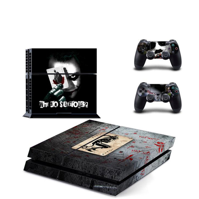 Joker For PS4 Vinyl Skin Sticker Cover for Sony PlayStation 4 Console and 2 controller Decal Cover Game Accessories