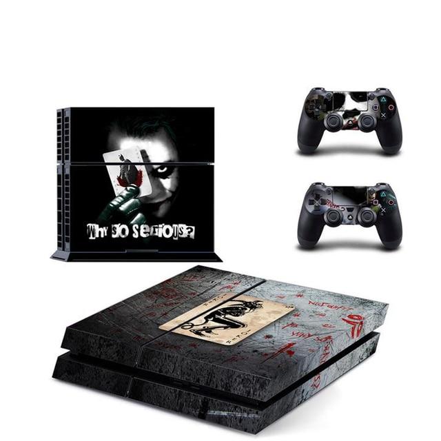 Joker para PS4 funda adhesiva de vinilo para Sony PlayStation 4 consola y 2 pegatina para control de la cubierta accesorios de juego