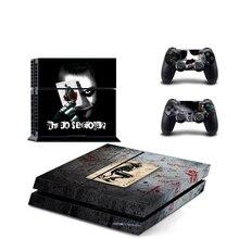 Joker para ps4 vinil pele adesivo capa para sony playstation 4 console e 2 controlador decalque capa acessórios do jogo