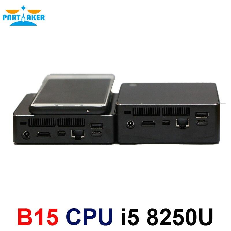 Partaker 8th Gen Intel Core I5 8250U Kaby Lake R DDR4 Mini PC Windows 10  Intel UHD Graphics 620