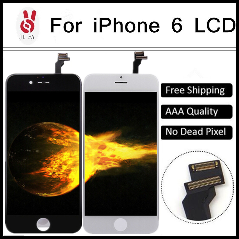 10PCS/LOT Grade AAA NO Dead Pixel For iPhone 6 LCD pantalla Screen Touch Digitizer Cold Press Frame display Assembly Free DHL 5pcs lot grade aaa no dead pixel for iphone 6 plus lcd display with touch screen digitizer assembly black