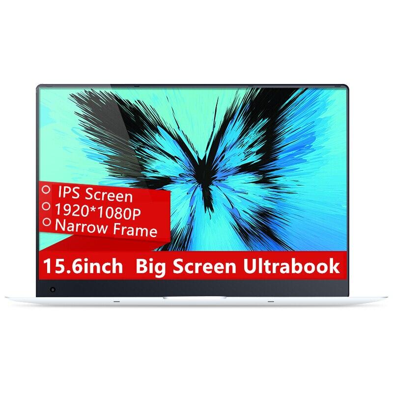 15.6 polegadas 4 GB de Ram 64 GB eMMC Windows 10 Sistema de 1920X1080 P FHD IPS Tela Intel Atom Z8350 Quad Core Computador Portátil Notebook