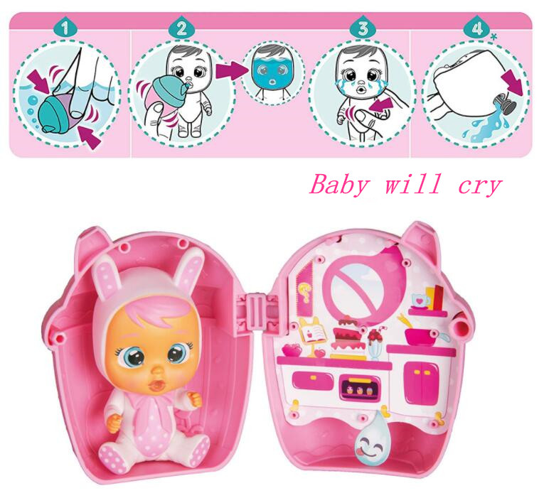 Cry Babies Magic Tears Lea Baby Educational Dolls Gift Set  Christmas Gifts  Dolls Toys For Girls