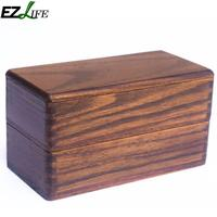 Wooden Food Box Japanese Traditional Natural Wooden Square Double Layer Wood Bento Box Lunch Picnic Sushi Food Container CFC9767