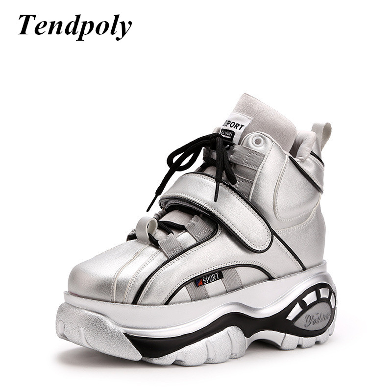 New Casual sports Women s boots Autumn Winter fashion high top Women shoes thick soled Increase