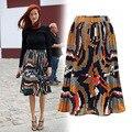Nuevas de la llegada mujeres vintage floral falda