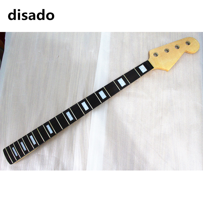disado 20 frets maple electric bass guitar neck with rosewood fingerboard wood color glossy paint guitar parts accessories black color 24 frets holt on one electric guitar neck mahogany wood and rosewood fingerboard 171