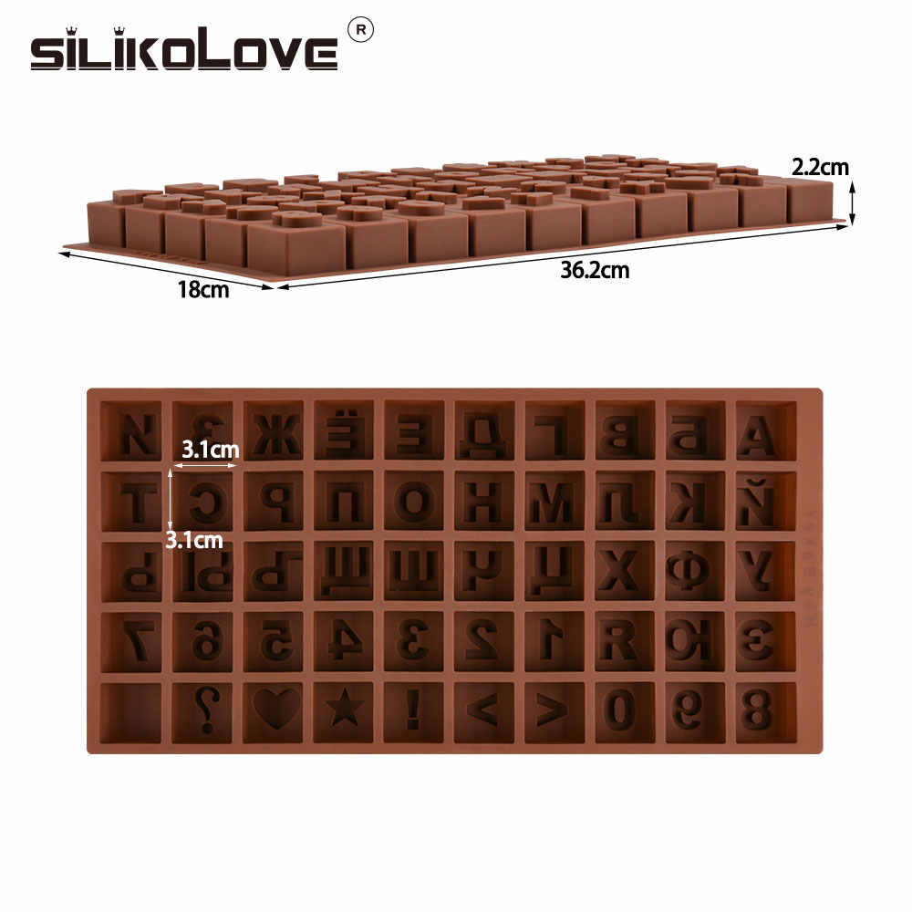 Rusia Alfabet Silicone Cetakan Huruf Cokelat Cetakan 3D Kue Dekorasi Alat Nampan Fondant Cetakan Jelly Cookie Baking Mo