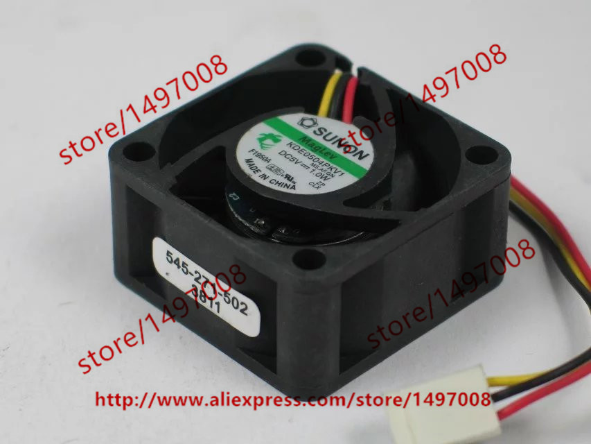 Free shipping For SUNON KDE0504PKV1 MS.AF.GN DC 5V 1.0W 3-wire 3-pin connector 40X40X20mm Server Square Cooling Fan
