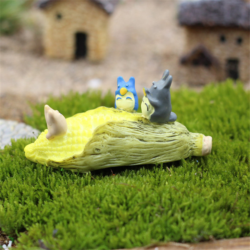2 Pcsset Kawaii Zakka Daun Jagung Chinchilla Hayao Miyazaki Totoro