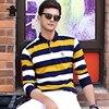 2017 New Men S Polo Shirts Autumn Fashion Striped Cotton Plus Size Business Causal Polo Shirts