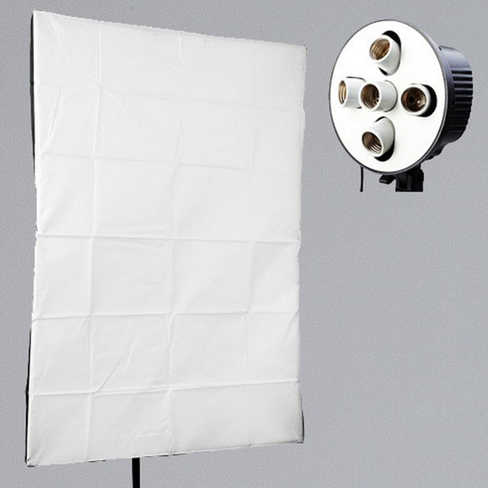 ASHANKS 5 in 1 E27 Socket Lamp Holder + 60x90cm Softbox for Photography Photo Studio Lighting Tent Kit for Continuous Light photographic equipment50x70cm softbox soft box e27 lamp holder socket for studio continuous lighting baorong bayonet bowens cd50