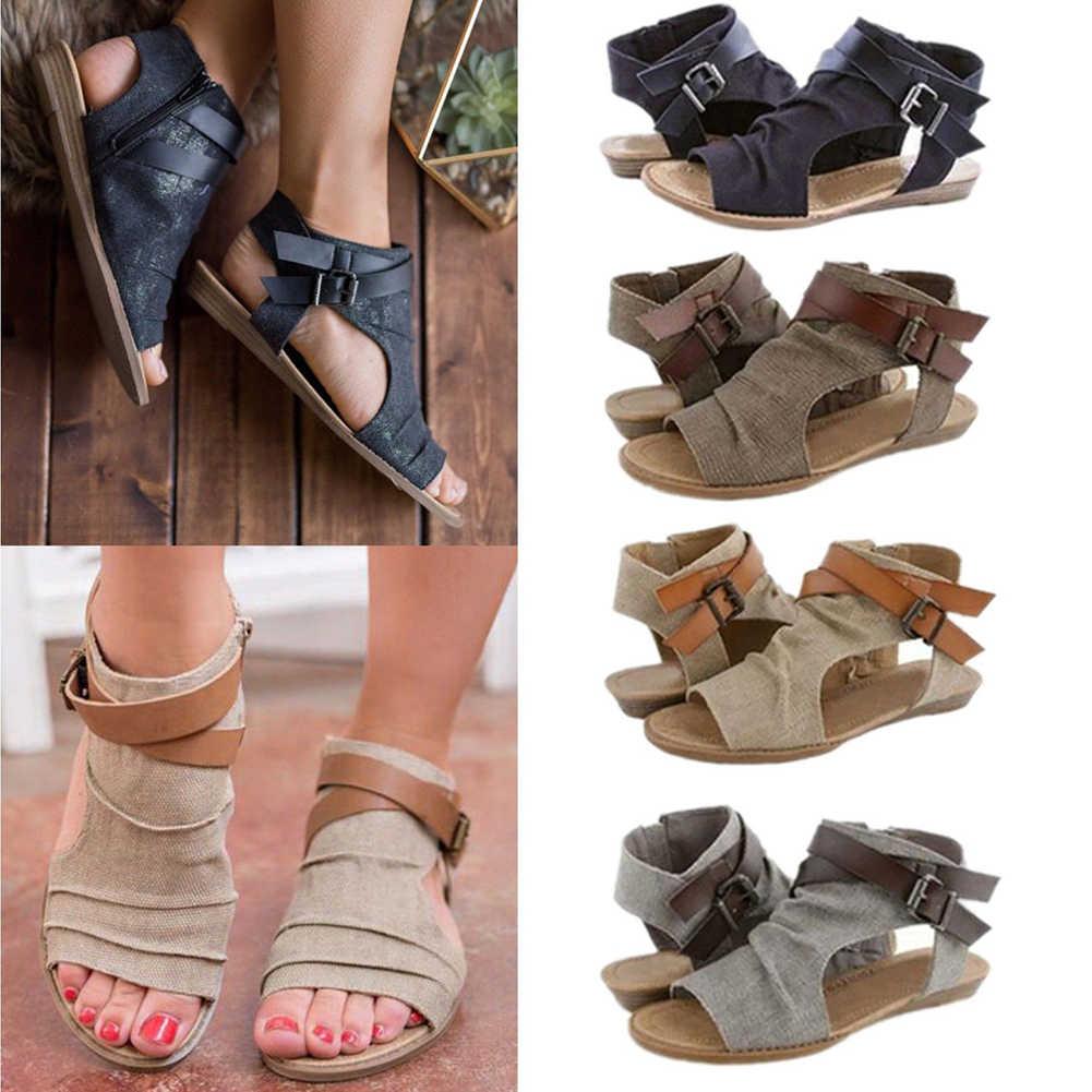 Women's Summer Denim Flat Sandals 2019