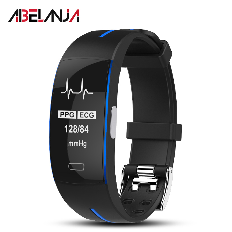 <font><b>P3</b></font> <font><b>Smart</b></font> <font><b>Band</b></font> ECG+PPG Blood Pressure Heart rate Monitor IP67 waterproof Pedometer Sport Fitness Bracelet for IOS Android image