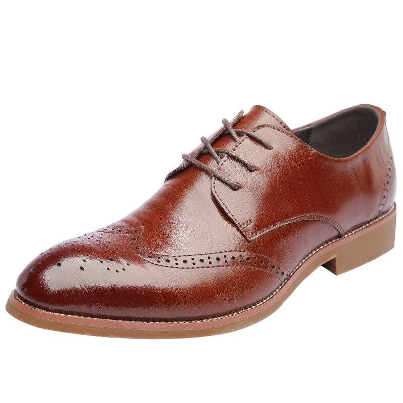 Handmade Men Leather Shoes Microfiber Dress Mens Business Casual Classic Gentleman Formal