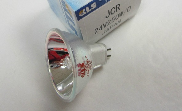 KLS JCR 24V250W/0 Halogen Lamp,SMT AOI Orbotech Fiber Optic Light Source,JCR24V250W/O,24V 250W Reflector Bulb kls jcr 9 5v55w kls jcr 9 5v55w japan halogen lamp 9 5v 55w reflector photometer bulb hunter spectrphotometer