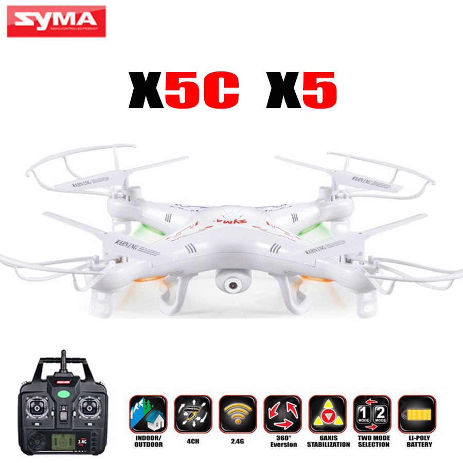 Upgrade Version SYMA X5C RC Drone 4CH 6-Axis Remote Control Helicopter Quadcopter With 2MP HD Camera or X5 RC Dron No Camera syma x5c 1 2mp hd fpv camera 2 4ghz 4ch 6 axis rc quadcopter