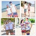2016 Nuevos cortocircuitos de la playa hombres mujeres short Shorts Para cortocircuitos del tablero Beachwear Bordshorts