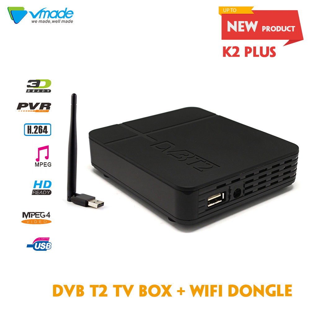 Vmade Newest full HD K2 FTA DVB T2 Terrestrial font b Receiver b font DVB T2