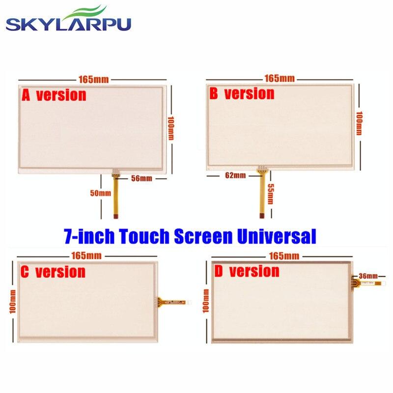Skylarpu Novo polegadas 165mm * 100mm Tela Sensível Ao Toque para Navegação Do Carro DVD, E11 HSD070IDW1 D00 Toque Digitador Da Tela painel Universal