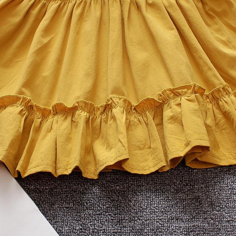BibiCola New Autumn Bow Toddler Girls Dress Baby Girls Dress Cotton Kids Children Girl Mini TuTu Dresses Infant Clothing