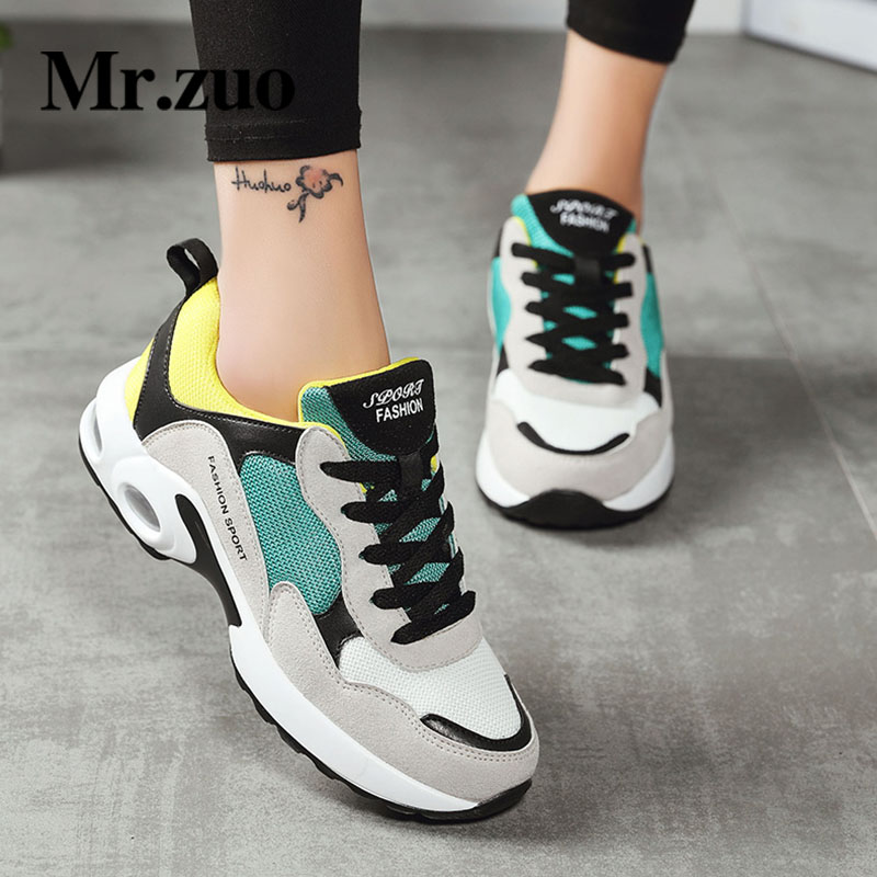 MR.zuo Brand Running Shoes For Women Breathable height increase Sneakers Basket Femme Air Sport Shoes Jogging Shoes Woman kelme 2016 new children sport running shoes football boots synthetic leather broken nail kids skid wearable shoes breathable 49