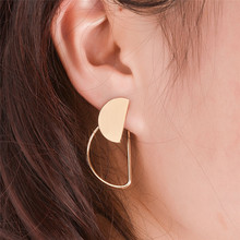 цена на Chic Women Punk Style Semicircle Ear Cuff No Piercing Earrings Pendientes Jewelry Accessories Gold/Silver-Color 1 Pair