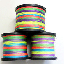 500m and 8 strand to a colorful color horse fish braided line PE Mainline fishing line  count sub raft fishing