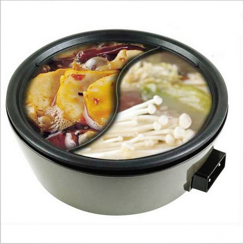 220V Multifunction Non-stick 3L Professional Electric Hot Pot Household Separable Two-flavor Hot Pot Multi Cooker Yuanyang Pot homeleader 7 in 1 multi use pressure cooker stainless instant pressure led pot digital electric multicooker slow rice soup fogao