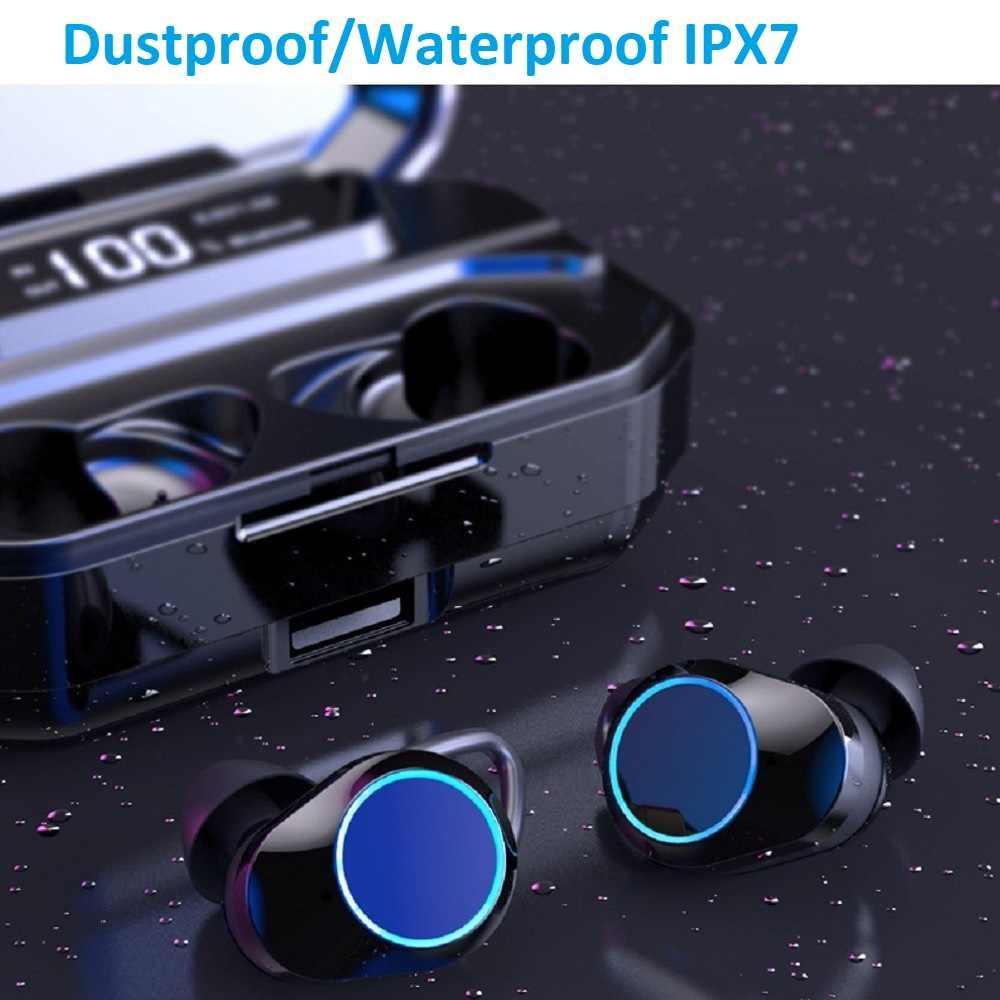 G02 TWS 5.0 Bluetooth 6D słuchawki stereo bezprzewodowe słuchawki IPX7 słuchawki wodoodporne 3300mAh wyświetlacz LED inteligentny power bank