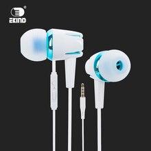 EKIND Wired Fones de Ouvido Com Cancelamento de Ruído fone de Ouvido Estéreo Com Fio Fone de Ouvido Fone de Ouvido com Microfone Microfone