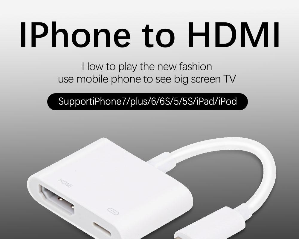 Besiuni Chiếu Sáng AV HDMI/HDTV TV Kỹ Thuật Số Cáp Cho iPhone 5 5 5s 6 6 S  7 7 Plus hdmi av cáp kỹ thuật sốav hdmi - AliExpress