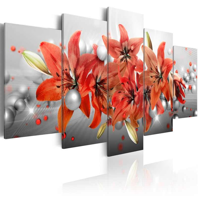Home Decorative Wall Decor Abstract floral poster Painting Art Silk Picture wall pictures for living room PJMT-B (574)