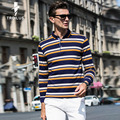 Troilus 2017 Fashion Men's Long Sleeve Polo Shirt Slim Leisure Striped Turn-Down Collar Polo Men's Business Casual Polo Shirts