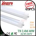 free shipping FA8 single pin 2400mm led tube light 8ft with 192pcs SMD2835