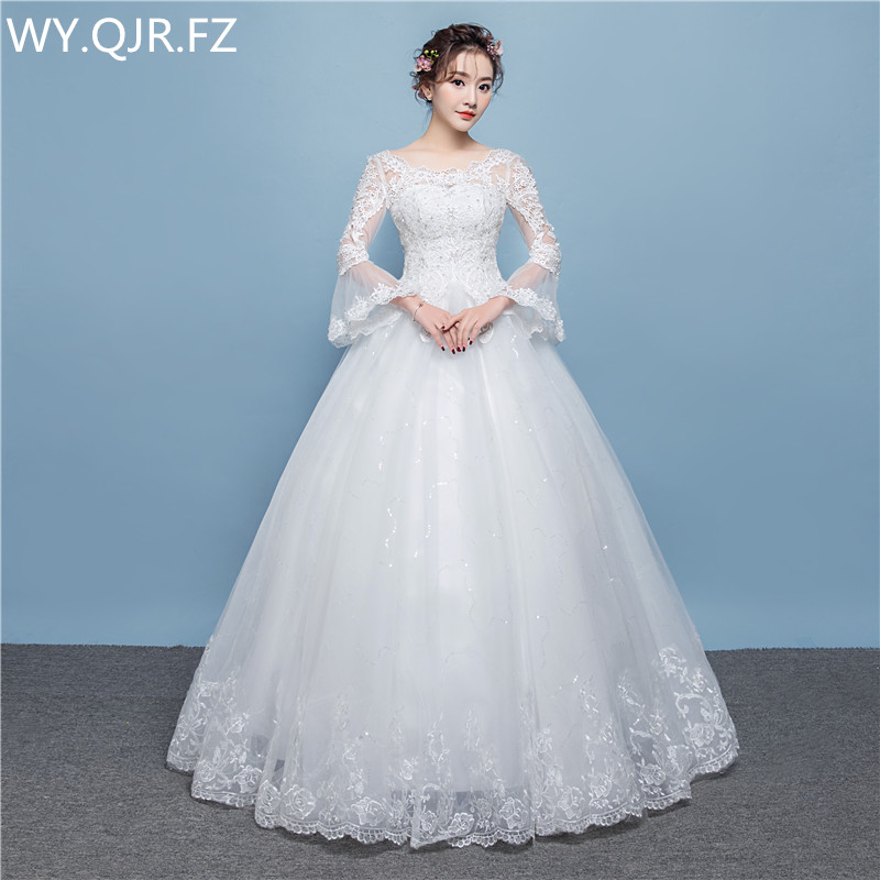 LYG D18 Paillette long lace up wedding party dress 2019 prom gown summer new Bridesmaid Dresses