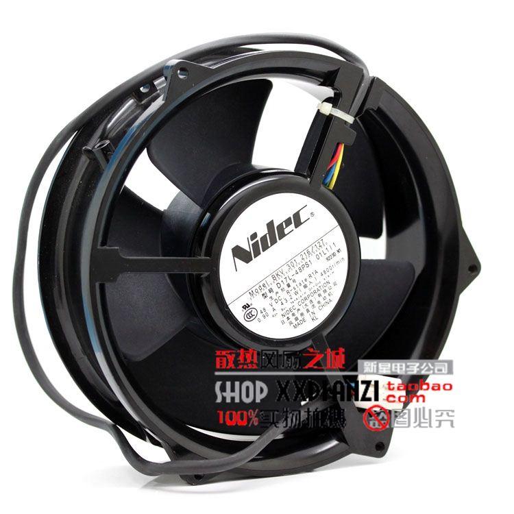 ФОТО Original for NIDEC D17L-48PS1 01L1L1 48V 0.90A 17CM Inverter cooling fan
