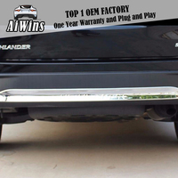 Car Styling For Toyota Highlander 15 19 ABS chrome Back Rear Bumper Trim Protection Covers Decoration Strip Exterior Accessories