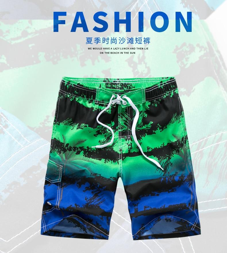 Mens Comfortable Hawaii Waves Hiking Fashion Beach Shorts Swim Trunks Board Shorts