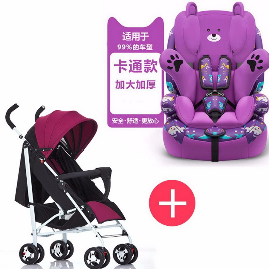 Free shipping child safety seat car chair baby portable increase seat 9 months-12 years old chair and cart combination RU child safety seat car baby car seat 9 12 years old 3c certified chair and stroller combination set sy 215 5