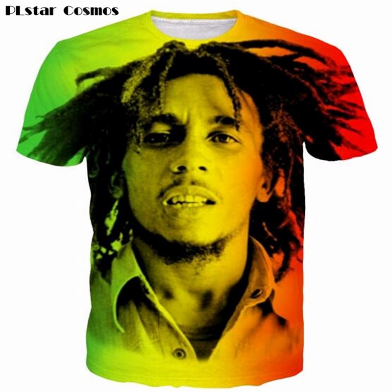 Newest Style Reggae Star Bob Marley Prints tshirts Men Women Hip Hop Rock Tees Tops t shirts Male Female Hipster 3D shirt