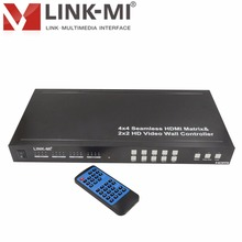2X2 Multi-View HDMI Controlador de Vídeo Wall Seamless Mudar 4×4 HDMI Matrix Criar Controle Remoto Controle RS232, IP, entrada DVI/HDMI