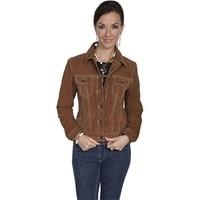 Скалли L107 125 XL женские замшевые джинсовая куртка Cafe Brown очень большой