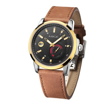 2017 New Rushed Sale Mige Skeleton Japan Mechanical Watch Movement Black Leather Strap Waterproof Automatic Sport  Mans Watches