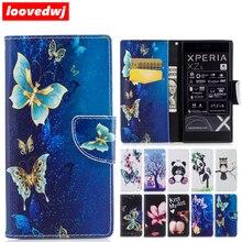 Фотография For SONY Xperia XZ XZs XZ1 Premium Compact Case Flip Luxury Leather Patterned Abstract Cases Covers For Xperia XZ XZs XZ1 Case